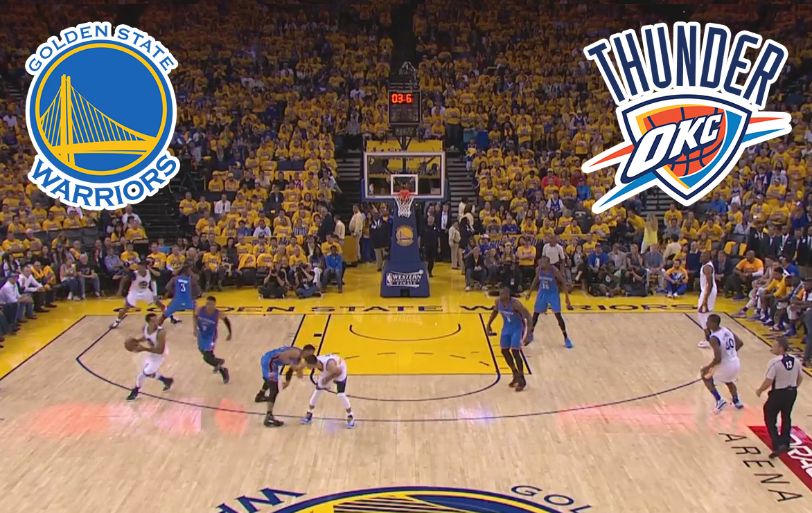 Pronostic Basketball NBA : GOLDEN STATES WARRIORS VS OKLAHOMA CITY THUNDER (match 2)
