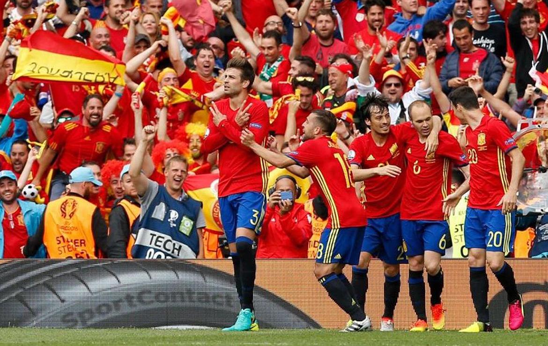 Victoire de l'Espagne face à la République tchèque. / Reuters/Albert Gea Livepic