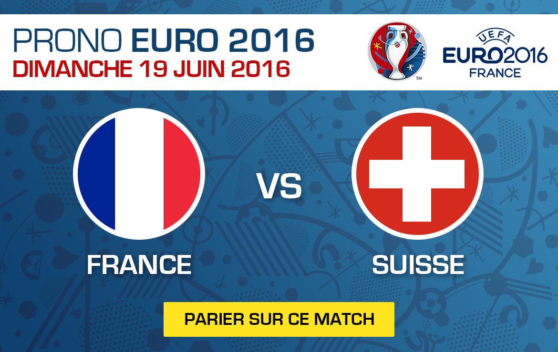 Pronostics match Euro 2016 France / Suisse