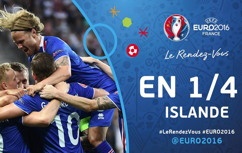 L'Islande se qualifie en quart de final qui l'opposera à la France Dimanche 3 Juillet 2016