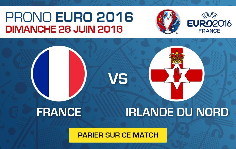 Pronostics match Euro 2016 France / Irlande du Nord
