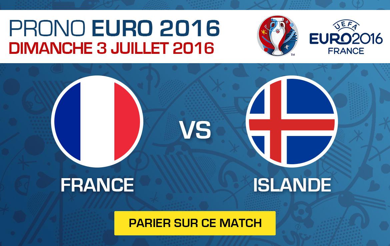 Pronostics match Euro 2016 France / Islande