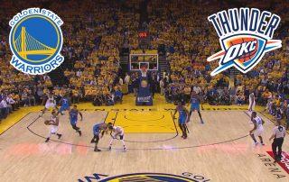 Pronostic Basketball NBA : GOLDEN STATES WARRIORS VS OKLAHOMA CITY THUNDER (match 2)