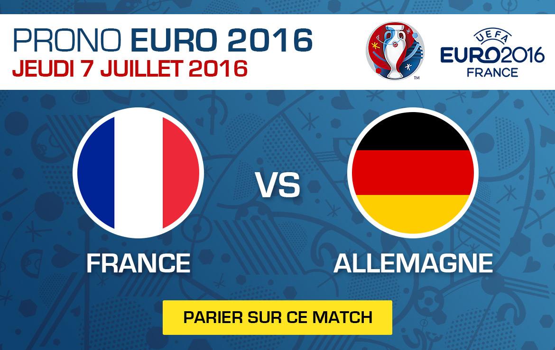Pronostics match Euro 2016 France / Allemagne