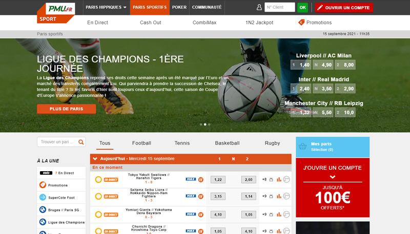 Accueil PMU Sport - Parier en ligne