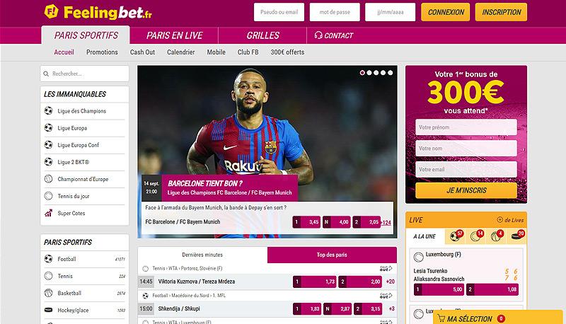 Paris sportif en ligne Feeling Bet