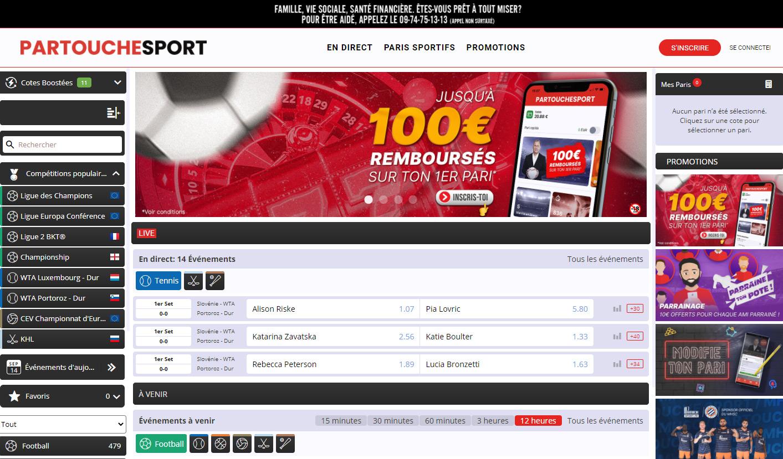 Paris Sportif en ligne Partouche Sport