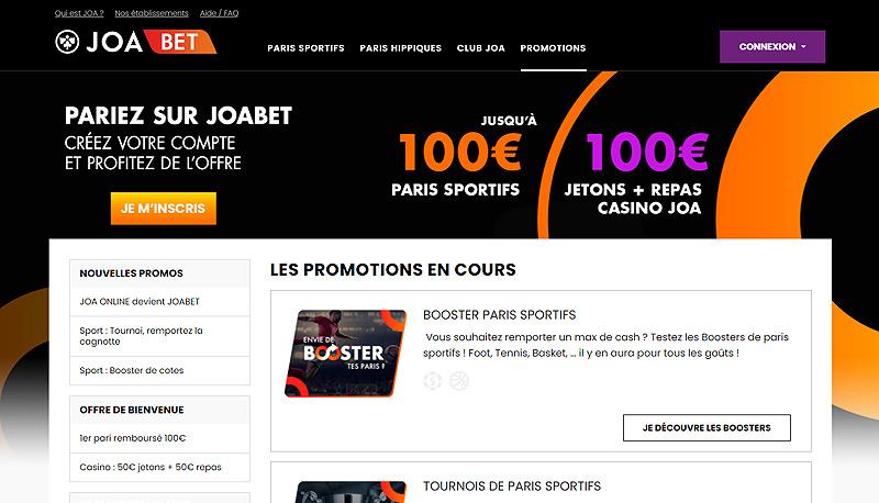 Site de paris en ligne français JOABET