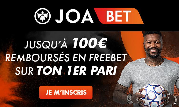 JOABET : Bonus inscription site de Paris sportifs en ligne français